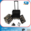 Aluminum hairdresser nail trolley makeup case