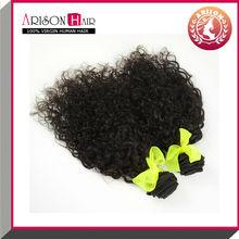 Hot sale virgin human curly hair weft raw bulk russian