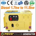 Gerador diesel kva 7 para venda 7.5 diesel kva gerador preço gerador kva 7