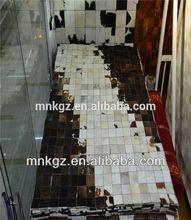 Cowhide carpet, patchwork various color gradual change