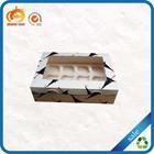 Square shape recycle wholesale cupcake boxes transparent cake box