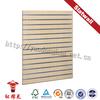 Melamina mdf grooved wood panel board for supermarket
