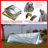 Emergency tent/blanket, rescue tent/blanket, survival tent/blanket, silver metallized PET, OPP, CPP, PE, PVC, PA film