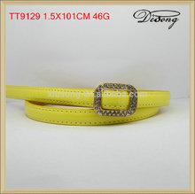 moda tt9129 amarillo delgada cinturones de diamantes de imitación de las mujeres al por mayor