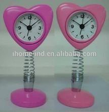 Lovely metal spring alarm table clock for kids
