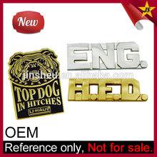 Wholesale Custom Brand Logos Cheap Metal Clothing Logos