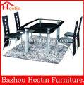 2014 moderna de alta calidad muebles de comedor de vidrio mesas de comedor y silla