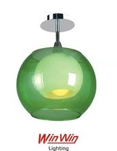 Verde cristal minimalista moderna kevin reilly altar colgante de la lámpara de luz