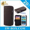 Folio Genuine Leather Case For Samsung Galaxy S3 Mini Case
