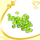 fancy square apple green loose rough glass gems fake costume jewelry
