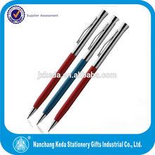 2014 hot selling twist metal hotel thin slim custom logo imprinted pen