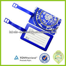 airlines travel rubber luggage tag/custom logo baggage tag