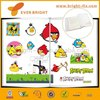 Top Grade Full Page Printed Angry Brid Color Plastic Opp Plastic Cartoon Book Cover for Students Book Wrapping