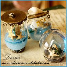 P~ christmas diy mini glass dome