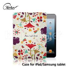 Elegant flower pattern for ipad silicone case