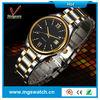 New wristwatch for men 2 tone with single date metal men watch alibaba