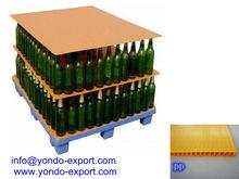 Plastic tier sheet/Corrugated plastic layer pads/ bottle pallet