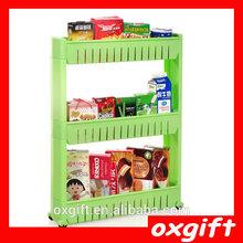 OXGIFT PP bathroom kitchen organizer shelf corner storage rack