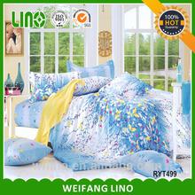 blue style bedding set/bed fabric /beautiful bedroom sofa set