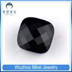 black checkerboard cushion cut glass bead loose gemstone