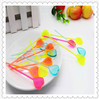 8.7cm Long Peach Heart Plastic Fruit Fork Supply to KTV or Bar