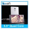 "android phone quad Core dual sim 5.5"" 3G china Smartphone"