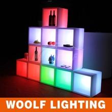 LED lights modern red wine corner display cabinet