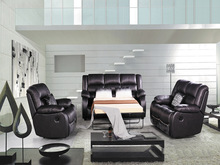 Modern sectional recliner leather bunk sofa bed