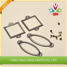 Metal decoration of scrapbook tag holder/tag frame for promotion