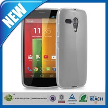 C&T Popular universal clear gel tpu cell phone covers for motorola moto g