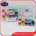 los niños de colores decorativos de plástico cuentas de venta al por mayor con el agujero para joyas de bricolaje