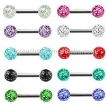 Ear Piercing Ferido Crystal Earring Double Ball