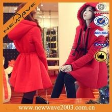 Women goose light down coat with fur collur