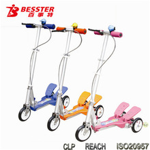 [NEW JS-008H] Hot-selling Dual-pedal scooter kid patents double pedal scooter with CE