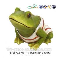 Funny customized resin yoga frog figurine wholesale