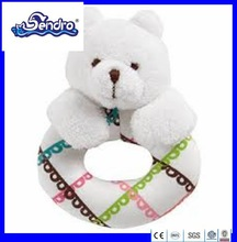 2014latest design bear image baby teether plush toys