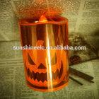 2014 hot sale china plastic led orange plastic light decorations halloween pumpkin