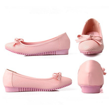 Latest fashion lady round head peas shoes lady hollow out flat shoes(M20027C)