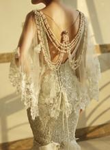 Customized Luxury Crystals Sexy Backless Mermaid Zuhair Murad Wedding Dresses 2014 New Design Bride Dress Free Shipping