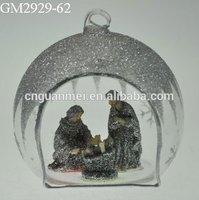 HOT Glass ornaments Jesus birth for home decor