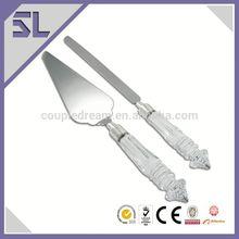 argento a specchio di nozze smalto posate coltello set di coltelli da sposa ingrosso