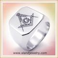 China aço inoxidável jóias de boa qualidade anéis de aço inoxidável anel de sinete maçônica