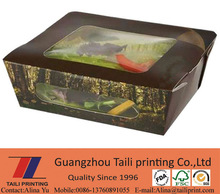 Popular new Salad box / salad window packing box / black salad box *FB20140902-4