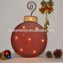 Lighted Metal Christmas Ornament