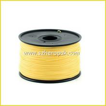 Factory Supply 3D Filament 1.75 Plastic Rods For 3D Printer Yellow 3D Plastic Filament