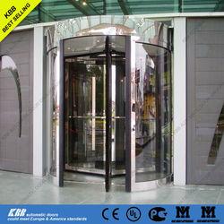 Denmark UCH, university, manual revolving door, ISO9001 UL CE certificate