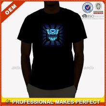 EL Man Sound Activated Custom Led Light T Shirt