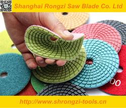 4 inch Flexible Diamond Polishing Pads,wet use
