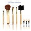 wholesale professional makeup brush kits/5pcs high quality synthetic hair makeup brush set