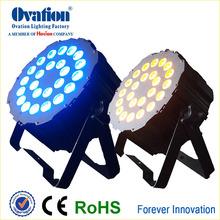 High Power DMX 2412w RGBAW +UV Led Par Light With New Thin Case